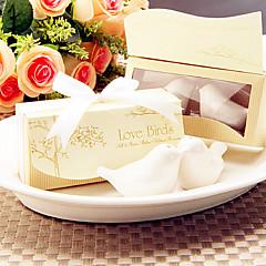 鳥のデザイン塩と唐辛子シェイカーセット結婚式の贈り物