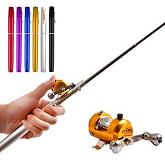 cheap Fishing Rods-Fishing Rod + Reel Ice Fishing Reel Fishing Rod Fishing Reel Mini Rod / Pen Rod Pen Rod Bait Casting Ice Fishing Freshwater Fishing