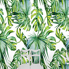 cheap -Tropical Big Turtle Leaves Custom 3D Large Wall Covering Mural Wallpaper Suitable Restaurant Tv Background Leaves
