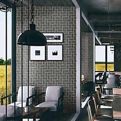 billige Tapet-Art Deco 3D Murstein Hjem Dekor Moderne / Nutidig Tapetsering, Pvc / Vinyl Materiale Selvklebende bakgrunns, Tapet