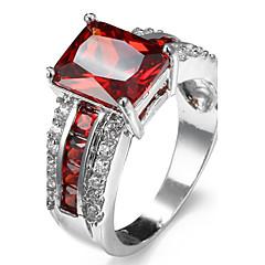 Ring Women's Euramerican Luxury 5 Colors Square Rhinestone Zircon Ring Daily Party Gift Movie Jewelry