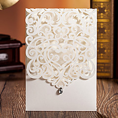 ラップ式 結婚式の招待状 20-招待状カード クラシック エンボス紙