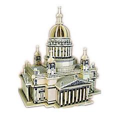halpa -3D palapeli Palapeli Puumalli Lelut Kirkko Arkkitehtuuri 3D DIY Simulointi Puu Ei määritelty Unisex Pieces