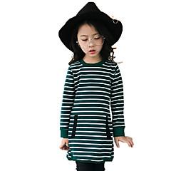 billige Pigetoppe-Børn Pige Blomster Stribe Langærmet Bomuld T-shirt