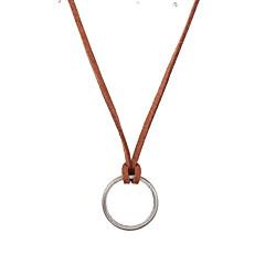 voordelige -Heren Dames Cirkelvorm Geometrische vorm Gepersonaliseerde Luxe Uniek ontwerp Logostijl Vintage zijdelings Euramerican Hangertjes ketting