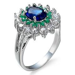 preiswerte -Damen Ringformen Bandringe Ring KubikzirkoniaBasis Kreisförmiges Einzigartiges Design Strass Geometrisch Klassisch Langlebig Elegant Sexy