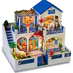 cheap -Wood Model Model Building Kit Toys DIY Famous buildings House Architecture Wood Natural Wood Classic Pieces Unisex Birthday Gift