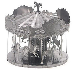 preiswerte -3D - Puzzle Holzpuzzle Metallpuzzle Karusell Frohe Runde gehen Aluminium Metal Kinder Teen Jungen Unisex Geschenk