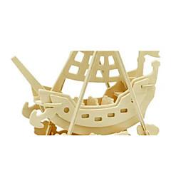 preiswerte -3D - Puzzle Holzpuzzle Holzmodelle Dinosaurier Flugzeug Schiff 3D Heimwerken Hölzern Holz Klassisch Seeräuber Unisex Geschenk