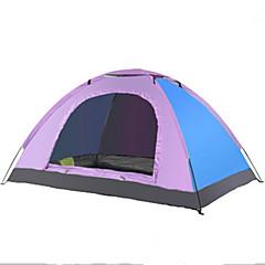 billige Telt og ly-LINGNIU® 2 personer Telt Enkelt camping Tent Utendørs Brette Telt Ventilasjon Ultraviolet Motstandsdyktig Solkrem Pusteevne til Camping