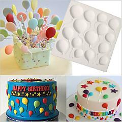 cheap Bakeware-Birthday BALLOONS Fondant Cake Silicone Molds Cupcake Mould Baking Tools Chocolate  Confeitaria