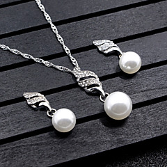 Women's Jewelry Set Imitation Pearl Dangling Style Wedding Party Special Occasion Anniversary Birthday Party Evening Event/Party Party /