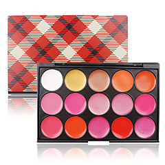 Cosmetic 15 Color Sweet Lip Palette Gloss Cream Jelly Red Lipstick Makeup Charming Lips Contour Pink Edition Matte Shimmer Shade Kit