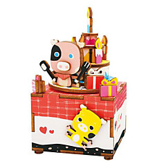 Puzzles Sets zum Selbermachen Holzpuzzle Bausteine Spielzeug zum Selbermachen Schwein Zeichentrick Komposit