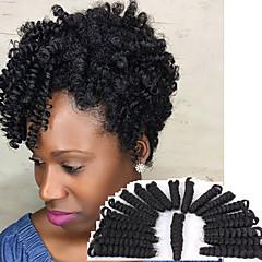 economico Treccine-Capelli intrecciati Kinky Curly / Toni Curl / Europeo Trecce Crochet pre-ciclo / Curlkalon Hair Capelli sintetici / Capelli al 100% kanekalon 20 radici / confezione capelli Trecce Biondo / Borgogna
