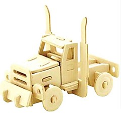 cheap -3D Puzzle Jigsaw Puzzle Wood Model Car Animals DIY Wooden Natural Wood Kid's Unisex Gift