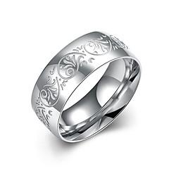 Herre Ring Smykker Blomstret kostyme smykker Rustfritt Stål Sirkelformet Smykker Til Bryllup Fest Kontor & Karriere Hverdag