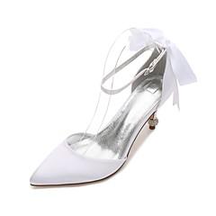 Damă pantofi de nunta Confortabili D'Orsay & Două Bucăți Balerini Basic Satin Primăvară Vară Nuntă Rochie Party & SearăPiatră