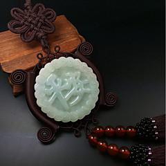 Diy pendentes automotivos abençoado paz pixie carro decorativo moda jóias carro pingente&Ornamentos jade
