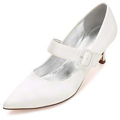 olcso -Női Esküvői cipők Boka pántos Kényelmes Magasított talpú Szatén Tavasz Nyár Esküvő Party és Estélyi Ruha CsatAlacsony Cicasarok Stiletto