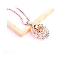 abordables -Femme Ovale Mode Pendentif de collier Strass Cristal Alliage Pendentif de collier , Mariage Soirée Anniversaire Quotidien