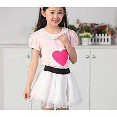billige Pigenederdele-Børn Pige Ensfarvet Bomuld Nederdel