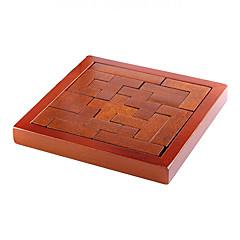 Lindert Stress Bildungsspielsachen Holzpuzzle Kong Ming Lock- Verriegelungsblöcke Spielzeuge Rechteckig Jungen Mädchen 1 Stücke
