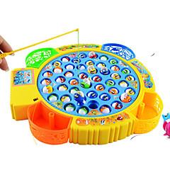 tanie Zabawa na dworze i sport-Zabawki magnetyczne Zabawki rybackie Zabawki Okrągły Rybki Elektryczny Tworzywa sztuczne Dla dzieci Prezent 1pcs
