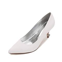 Damă pantofi de nunta Confortabili Balerini Basic Satin Primăvară Vară Nuntă Rochie Party & SearăPiatră Semiprețioasă Sclipici