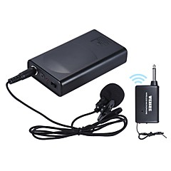 cheap Microphones-Portable Lavalier Lapel Collar Clip-on Wireless Microphone Voice Amplifier for Lecture Conference Speech Promotion