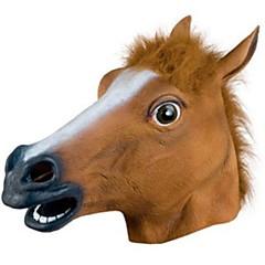 Χαμηλού Κόστους Πρωτοποριακά και αστεία παιχνίδια-Αποκριάτικες Μάσκες / Μάσκα ζώο Άλογο / Θέμα τρόμου Καουτσούκ / Κόλλα Γιούνισεξ Ενηλίκων Δώρο 1 pcs