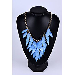 Women's Statement Necklaces Taper Shape Synthetic Gemstones Alloy Tassel Jewelry For Wedding Party Special Occasion Anniversary Birthday