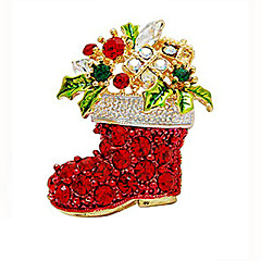 Dame Pige Brocher Kvadratisk Zirconium Boheme Stil Guldbelagt Smykker Til Bryllup Fest Ceremoni Jul