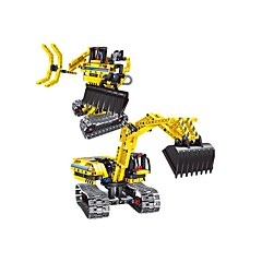 DIY 키트 조립식 블럭 교육용 장난감 로봇 라디오 제어 굴착기 장난감 기계 로봇 지게차 토공 기계장비 조각 아동 아동용 선물