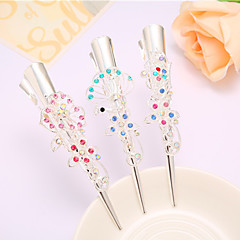cheap Wigs & Hair Pieces-Complex Classic Hairpin Hair Ornaments Palace Hairpin National Wind Hair Ornaments Diamond Tassel Step Shake Crystal Jewelry 4PCS