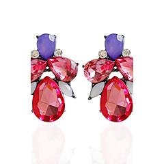 Drop Earrings Earrings Set Earrings Jewelry Women Wedding Party Daily Alloy Acrylic Rhinestone 1 pair White Red Pool Multi Color
