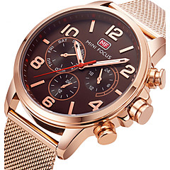 MINI FOCUS Men's Sport Fashion Watches Wristwatch Luxury Waterproof Quartz Stainless Steel Band Clock Relogio Masculino Hombre
