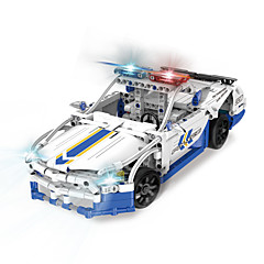Sets zum Selbermachen Bausteine Bildungsspielsachen Radiokontroll Spielzeugautos Polizeiauto Spielzeuge Auto Stücke Kinder Geschenk