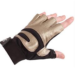 baratos Luvas de Motociclista-Meio dedo Homens Motos luvas Tecido Oxford Treinador Respirável Profissional Leve