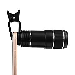 Объектив клип объектив универсальный объектив с оптическим зумом 12-кратный зум ручной фокус съемный телескоп клип-камера телеобъектив для
