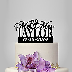 billige Kakedekorasjoner-Kakepynt Klassisk Tema / Bryllup Plast Bryllup med 1 pcs Polyester Veske