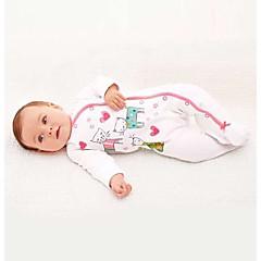 billige Babytøj-Baby Pige En del Dyr, 100 % bomuld Forår/Vinter Langærmet Tegneserie Hvid Lyserød Grå