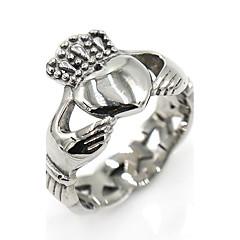 Miesten Naisten Midi-sormukset Nauhasormukset Muoti Classic Ruostumaton teräs Heart Shape Crown Shape Korut Käyttötarkoitus Näyttämö