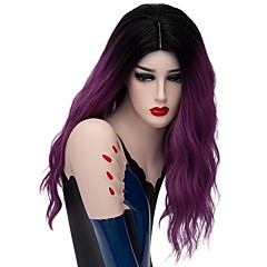 cheap Wigs & Hair Pieces-Synthetic Wig Women's Loose Wave Blue Synthetic Hair Ombre Hair Blue / Blonde / Pink Wig Capless Rose / Green Silver Purple Gold Pink / Brown / Gray