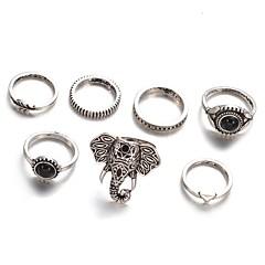 billige Motering-Dame Ring - Legering Elefant, Blad Formet Vintage, Mote, Elegant En størrelse Sølv Til Daglig / Avslappet / Aftenselskap