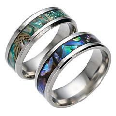 levne -Pánské Dámské Široké prsteny Módní Titanová ocel Šperky Šperky Pro Denní