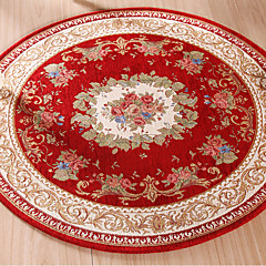 cheap Rugs-Area Rugs Casual Polyester, Round Superior Quality Rug / Non Skid