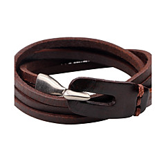 cheap -Men's Women's Leather Bracelet Personalized Simple Style Leather Round Jewelry For Casual Going out