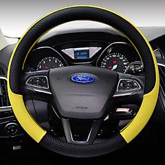 billige Rattovertrekk til bilen-Rattovertrekk til bilen Lær 38 cm kaffe / Svart / Lilla / Svart / Hvit For Ford Focus / Escort / Fiesta Alle år