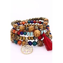 cheap Men's Jewelry-Men's Women's Wrap Bracelet Strand Bracelet - Hip-Hop Simple Style Irregular White Black Coffee Red Blue Bracelet For Gift Evening Party